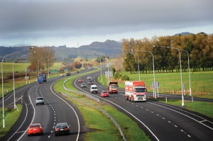 Waikato expressway south of Ngaurawahia
